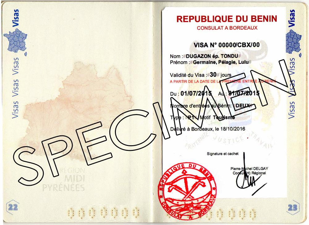 Bénin Visa